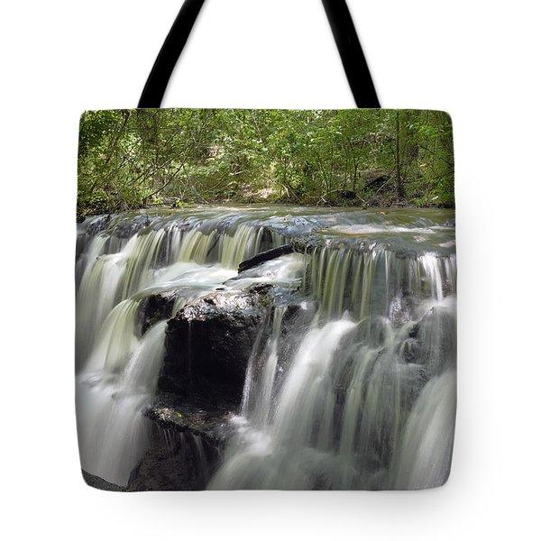 Odom Creek Waterfall Georgia Tote Bag by Charles Beeler
