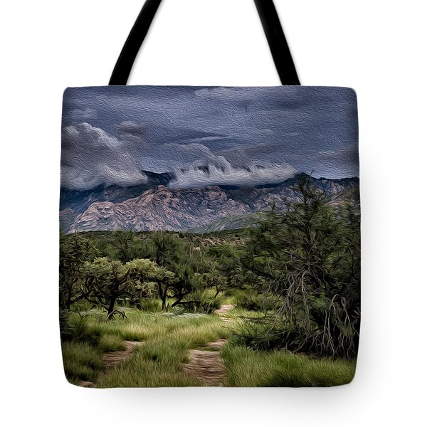 Odyssey Into Clouds Oil Tote Bag