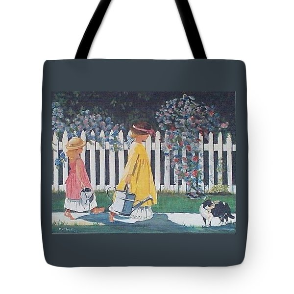 Off To The Garden Tote Bag