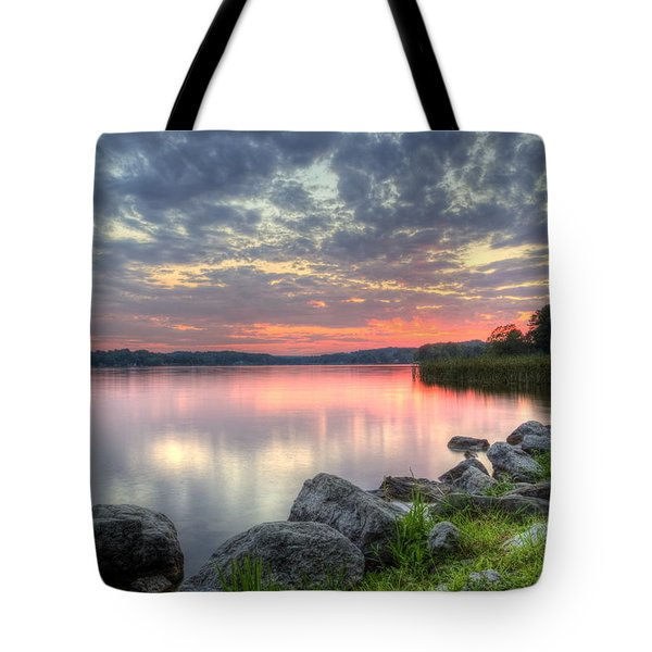 Ohio Lake Sunset Tote Bag