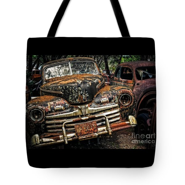 Old Rusty Ford Tote Bag