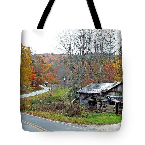 Old Barn Along Slick Fisher Road Tote Bag