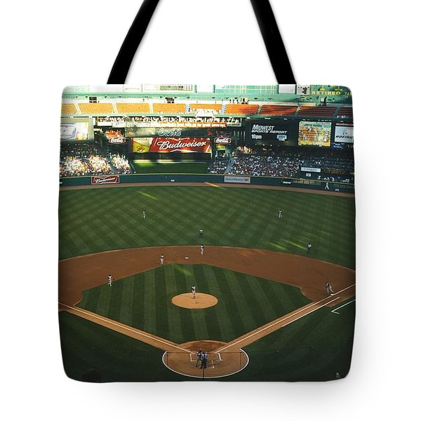 Tote Bag featuring the photograph Old Busch Field by Kelly Awad
