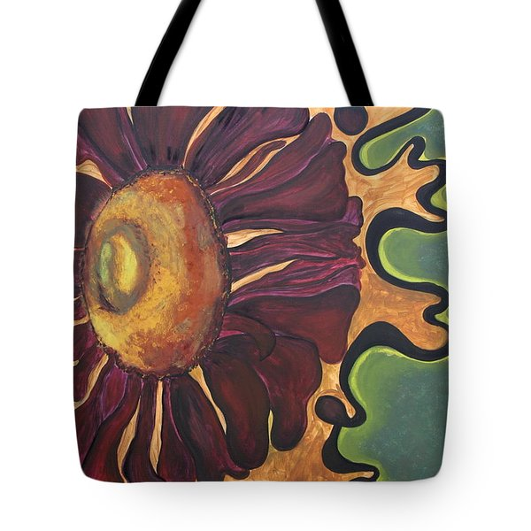 Old Fashion Flower Tote Bag