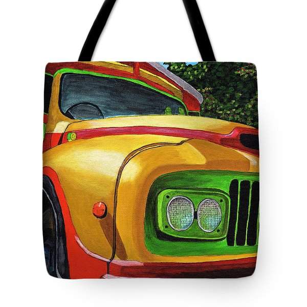 Old Grenadian Bus Tote Bag