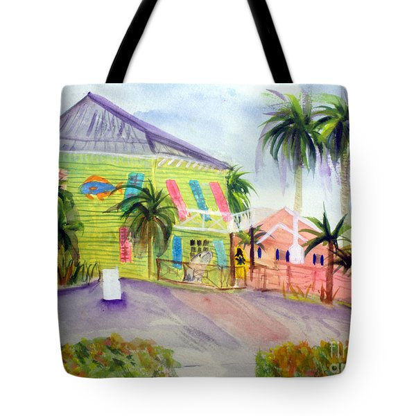 Old Key Lime House Tote Bag by Donna Walsh