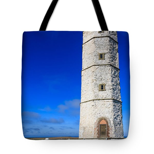 Old Lighthouse Flamborough Tote Bag