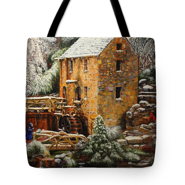 Old Mill In Winter Tote Bag