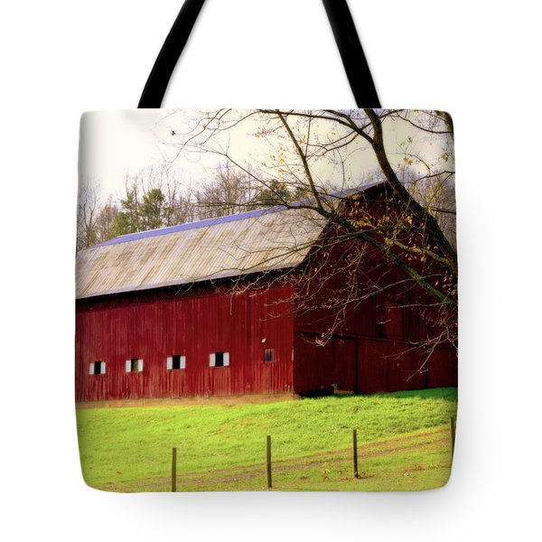 Old Red Tote Bag by Karen Wiles