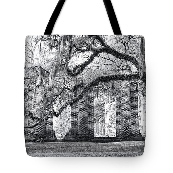 Old Sheldon Church - Side View Tote Bag