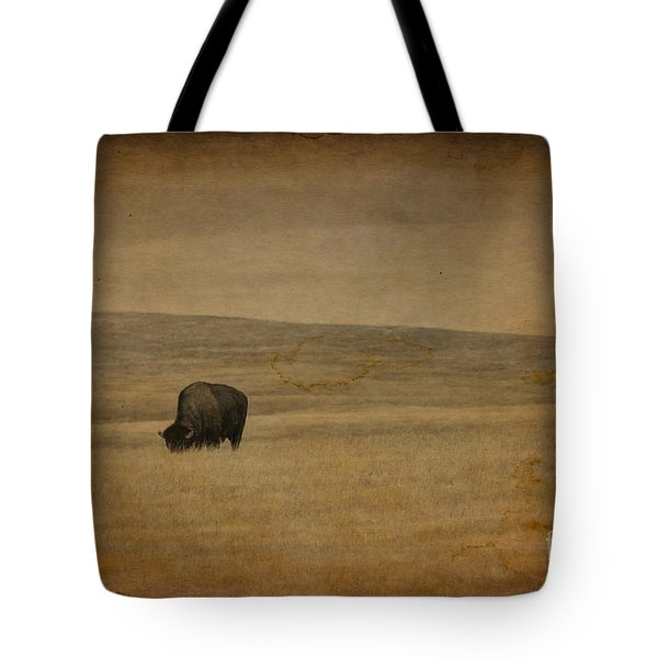 Western Themed South Dakota Bison  Tote Bag