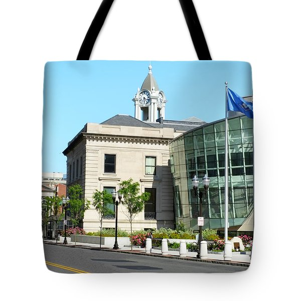 Old Town Hall In Stamford Tote Bag