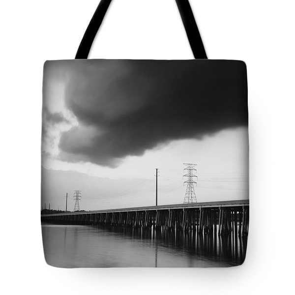 Ominous Cloud Tote Bag by Phill Doherty