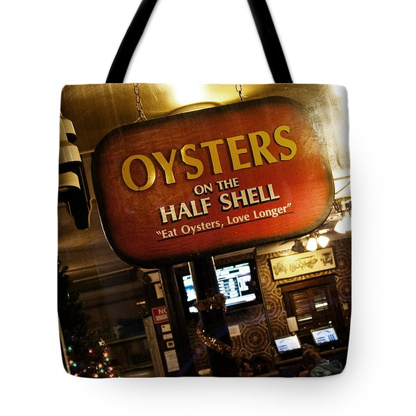 On The Half Shell Tote Bag by Scott Pellegrin