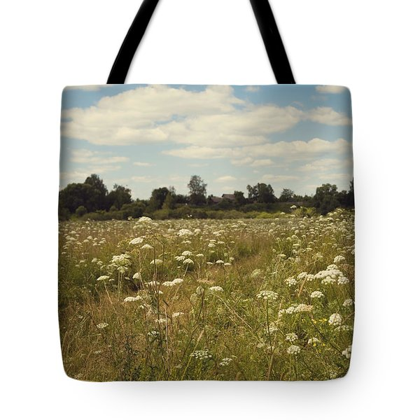 On The Summer Meadow. Russia Tote Bag by Jenny Rainbow