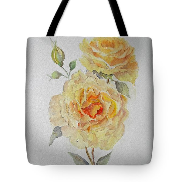 Tote Bag featuring the painting One Rose Or Two by Beatrice Cloake