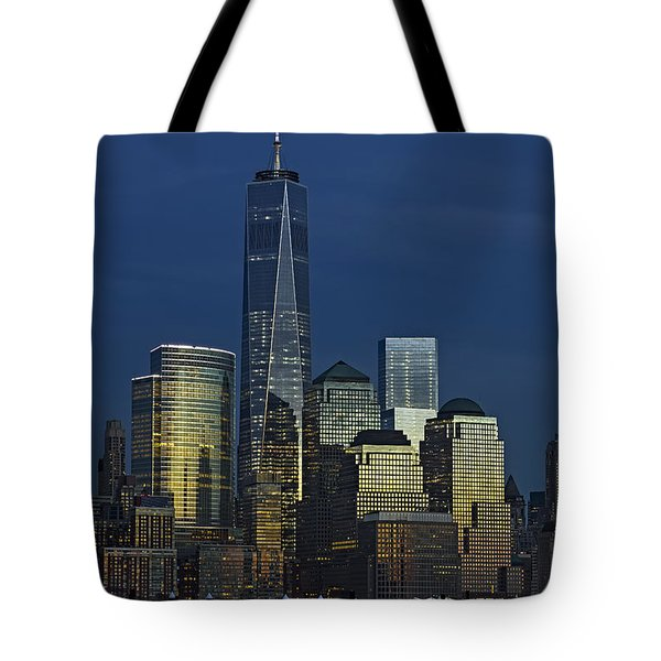 One World Trade Center At Twilight Tote Bag by Susan Candelario