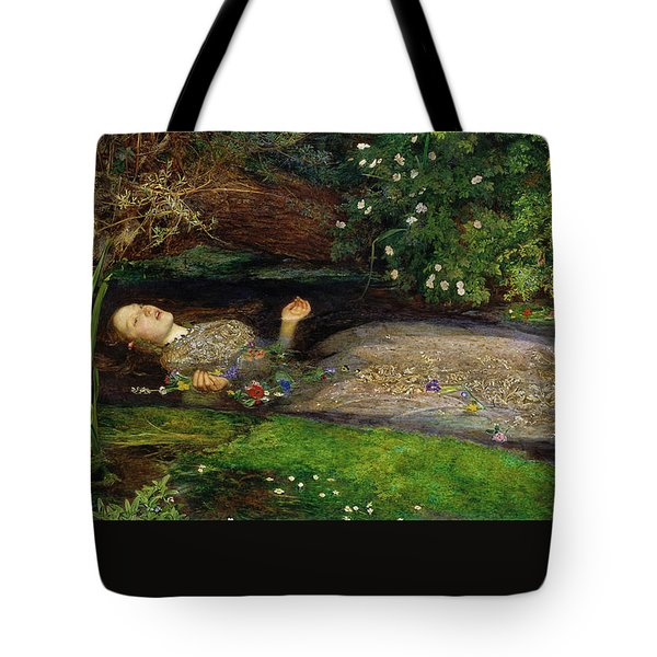 Tote Bag featuring the painting Ophelia by John Everett Millais