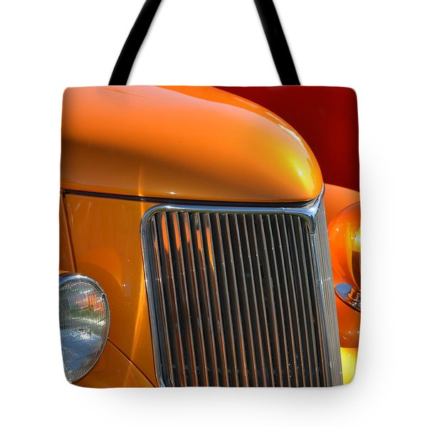 Orange Hotrod Tote Bag by Dean Ferreira