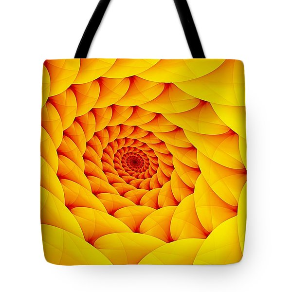 Yellow Pillow Vortex Tote Bag