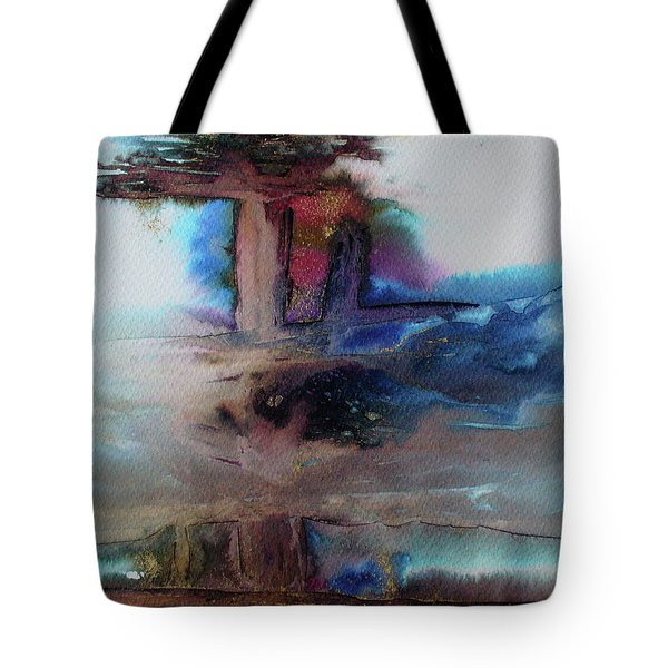 Tote Bag featuring the painting Out Of The Mist by Mary Sullivan