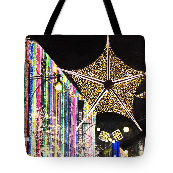 Tote Bag featuring the painting Oxford Street London 2011 by Carol Flagg