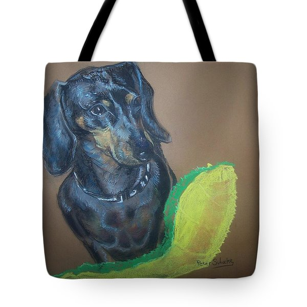 Ozzie Dashound Tote Bag by Peter Suhocke
