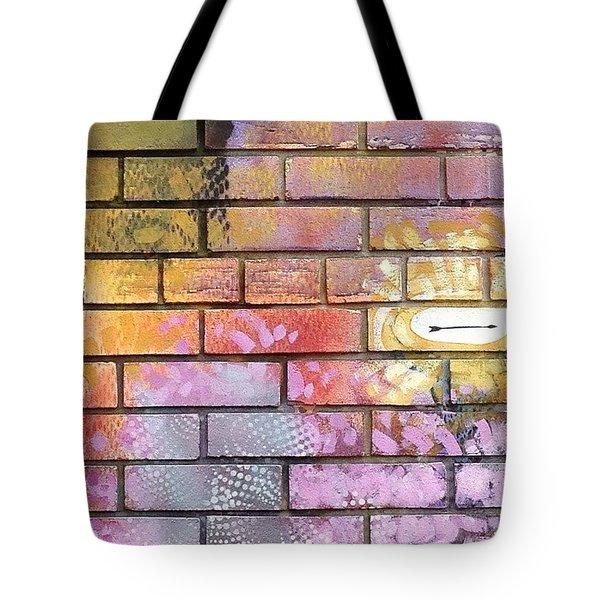 Painted Brick Tote Bag