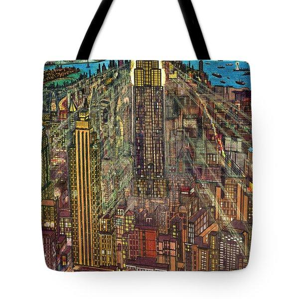 New York Mid Manhattan 1971 Tote Bag