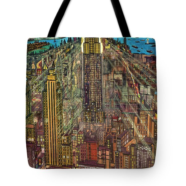 New York Mid Manhattan 1971 Tote Bag