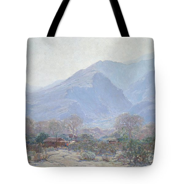 Palm Springs Landscape With Shack Tote Bag by John Frost