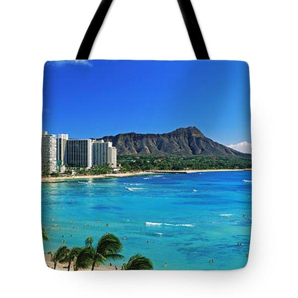 Palm Trees On The Beach, Diamond Head Tote Bag