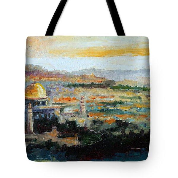 Panorama Of Jerusalem Tote Bag