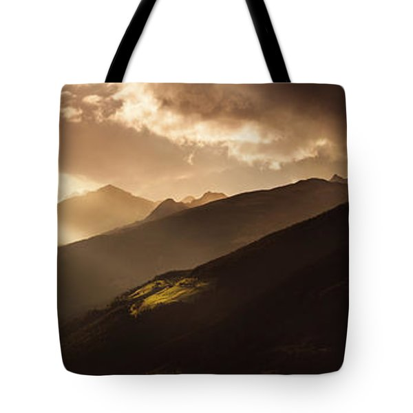 Panoramic View Of Dolomite Alps Tote Bag by Evgeny Kuklev
