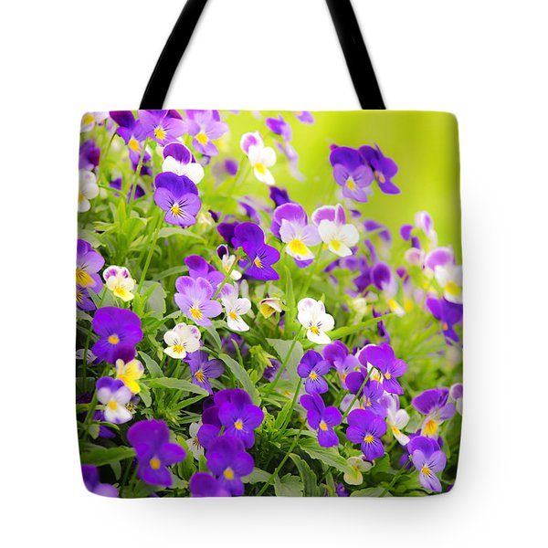 Pansies Tote Bag by Elena Elisseeva