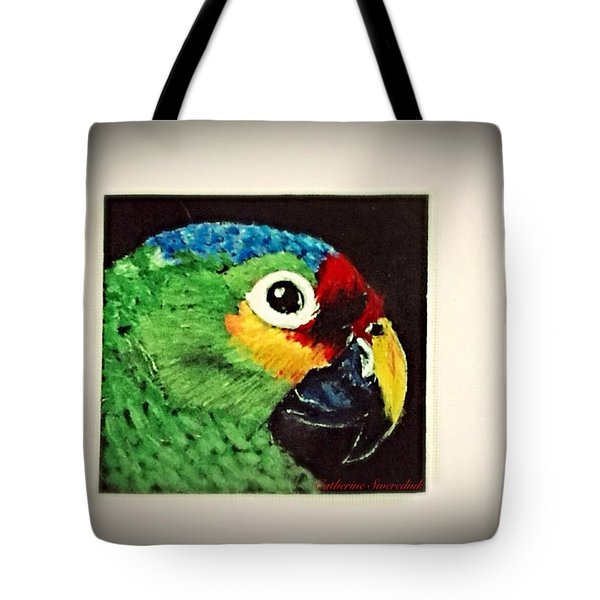 Parrot Tote Bag by Catherine Swerediuk