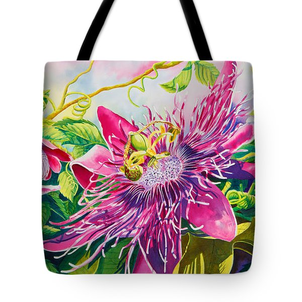 Passionflower Party Tote Bag by Janis Grau