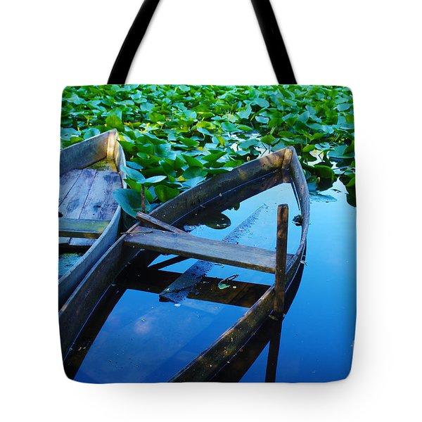 Pateira Boats Tote Bag by Carlos Caetano