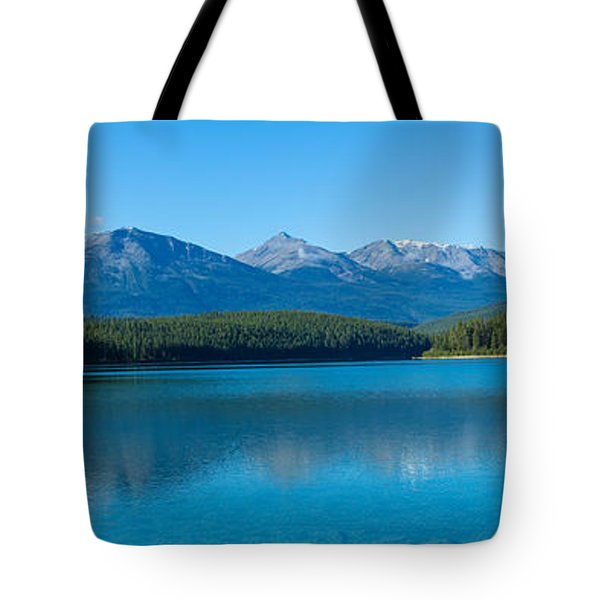 Patricia Lake With Mountains Tote Bag