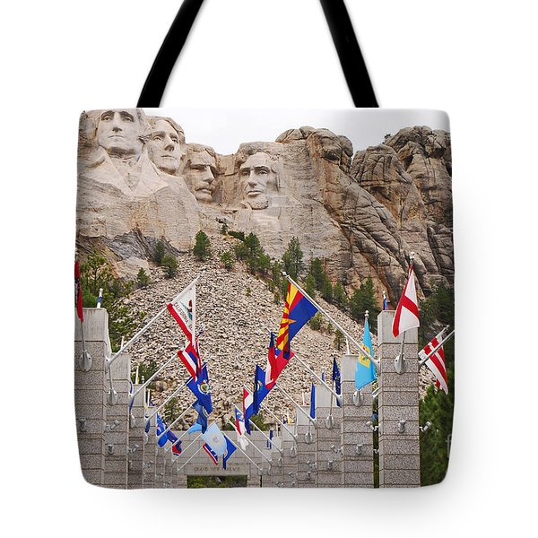Tote Bag featuring the photograph Patriotic Faces by Mary Carol Story