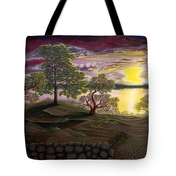 Peaceful Sunset Tote Bag by Rebecca Parker