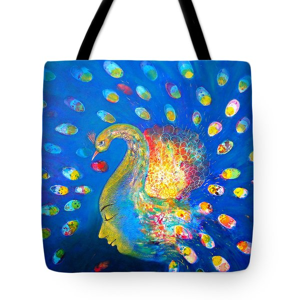 Peacock Life Tote Bag