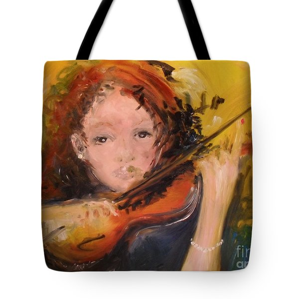 Tote Bag featuring the painting Pearl by Laurie Lundquist
