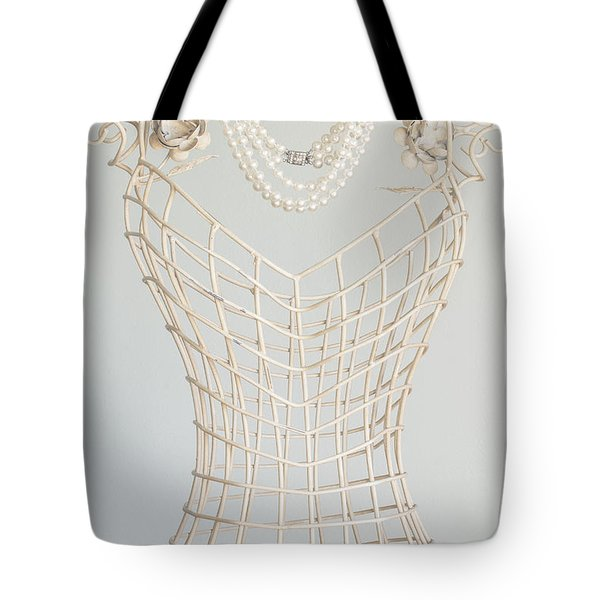 Pearls Tote Bag by Margie Hurwich