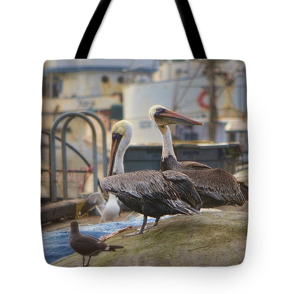 Pelican Duo Tote Bag by Donna Greene
