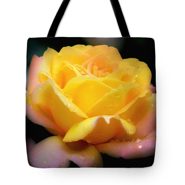 Petals And Drops Tote Bag by Julie Palencia