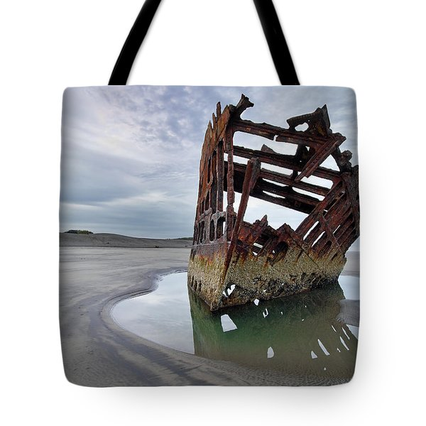 Peter Iredale At Dawn Tote Bag by David Gn
