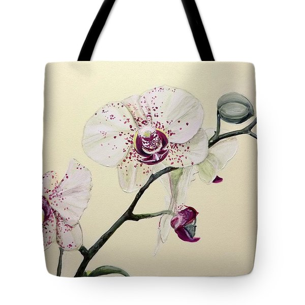 Phalaenopsis Black Panther Orchid Tote Bag
