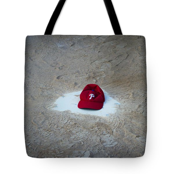 Phillies Home Plate Tote Bag by Bill Cannon