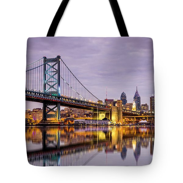 Tote Bag featuring the photograph Philly by Mihai Andritoiu